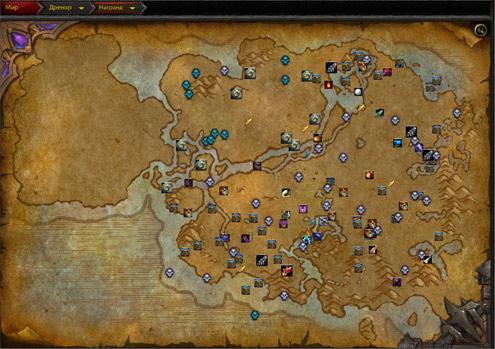 Так выглядят сокровища на карте Награнда в аддоне HandyNotes